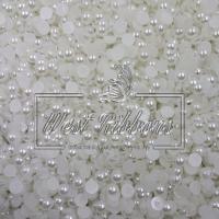Полубусы матовые 5 -12 мм белые
