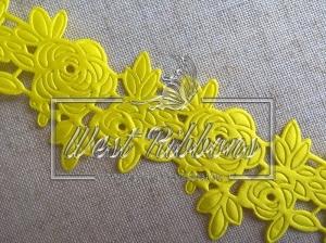 "Ажур "" Роза ""  4.5  см , желтая"