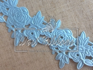 "Ажур "" Роза ""  4.5  см , голубая"