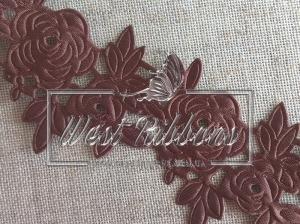 "Ажур "" Роза ""  4.5  см , коричневая"