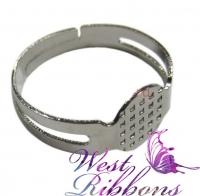 Кольцо -заготовка -серебро-10 шт.