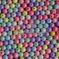 Бусины Пастель 6 мм микс (матовые)