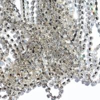 Цепочка-страза серебро БЕЗ перламутра 3 мм