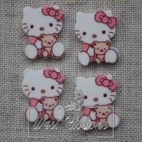 Кабашон Китти с мишкой, розовый №21
