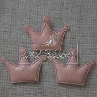 Аппликация корона, св.розовая