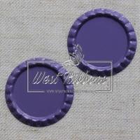 Крышечки для бантиков , темно-фиолетовые