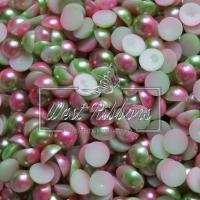 П-сы Омбре 8 мм матовые, салатово-розовые