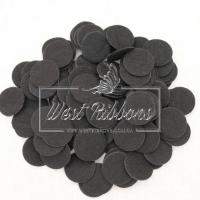 Фетровые кружочки  2.5 см черные (маленькие)