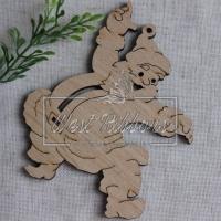 Деревянные украшения , Санта № 12