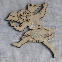 Деревянные украшения , ангелочек бежит № 8