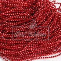Жемчуг на нитке 3 мм New Year, красный