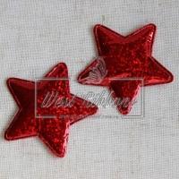 Аппликация звездочка -ЕКО, красная-перлам.