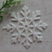 Снежинка 6 см айвори ,  (маленькая) NEW  УПАКОВКА