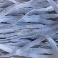 Резинка с люрексом 1 см,  белая (перламутр)