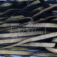 Резинка с люрексом 1 см, золото (на черном)