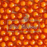 Хрусталька-жемчуг  10 мм , оранжевая