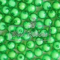 Хрусталька-жемчуг  10 мм , зеленая