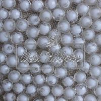 Хрусталька-жемчуг  10 мм ,  белая