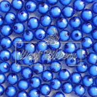 Хрусталька-жемчуг  10 мм , темно-синяя