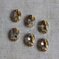 С-ка 10*14 мм Овал- Бриллиант, золото (МАЛЕНЬКИЙ)