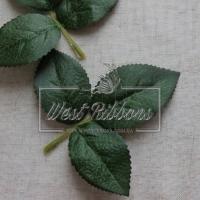Листики розы на веточке 11 см (большие)