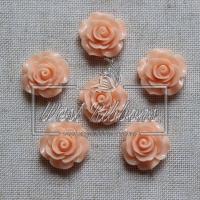 Серединка-роза 2 см , персиковая