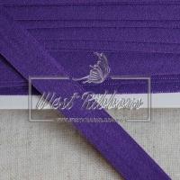 Касая бейка стрейчевая 1.5 см, темно-фиолетовая
