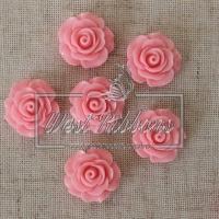 Серединка-роза 2 см , розовая