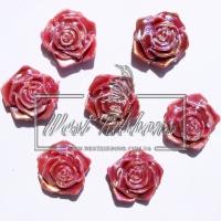 С-ка ТВ роза 2 см  перамутр, бордовая