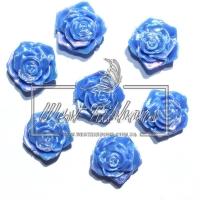 С-ка ТВ роза 2 см  перамутр, синяя