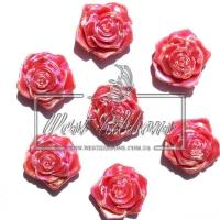 С-ка ТВ роза 2 см  перамутр, красная