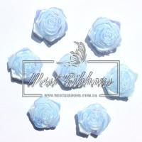 С-ка ТВ роза 2 см  перамутр, голубая