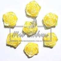 С-ка ТВ роза 2 см  перамутр, желтая