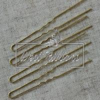 Шпильки для волос 8 см, золото- 10 шт.