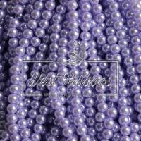 Жемчуг на леске 6 мм, св. фиолетовый