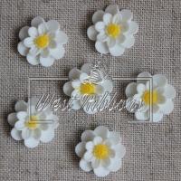 С-ка Цветок М-ША 2 см, белая