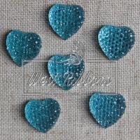 С-ка Сердце пупер 16 мм голубое