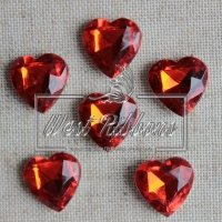С-ка  сердце  Бриллиант - красное