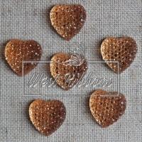 С-ка Сердце пупер 16 мм золото