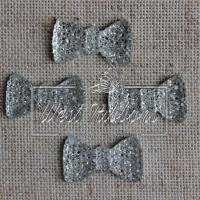 Серединка бантик пупер 2см , серебро
