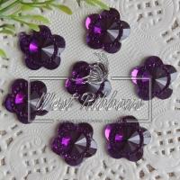 """С-ка  """"Цветок огранка""""   16 мм , темно-фиолетовая"""