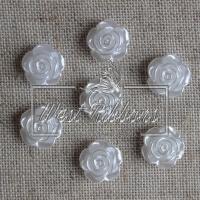 С-ка Розочка-перламутр 1 см, белая -(10 шт.)