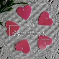 Пайетки -сердечки, розовые