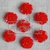 Серединка-роза 2 см, красная