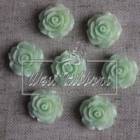 Серединка-роза 2 см, бледно-мятная