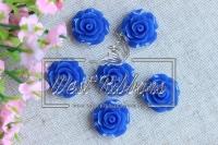 Серединка-роза 2см ,синяя