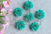 Серединка-роза 2см ,зелёная