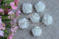 Серединка-роза 2см ,белая