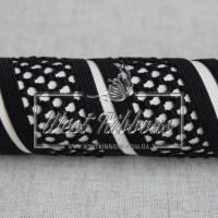"""Резинка для повязок """"Сетка"""" 4 см, черная"""