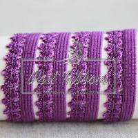"""Резинка """"Зубчик"""" 1.4 см, темно-фиолетовая"""